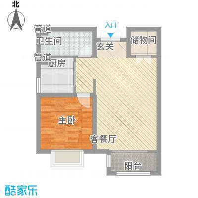 中浩智城一期高层标准层B户型