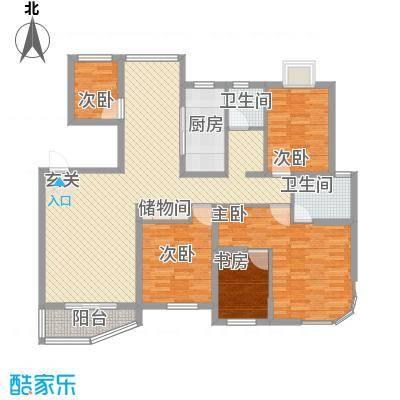 万马滨河城152.10㎡户型4室2厅2卫1厨