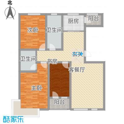 绿地新里中央公馆134.31㎡A2栋d户型3室2厅2卫