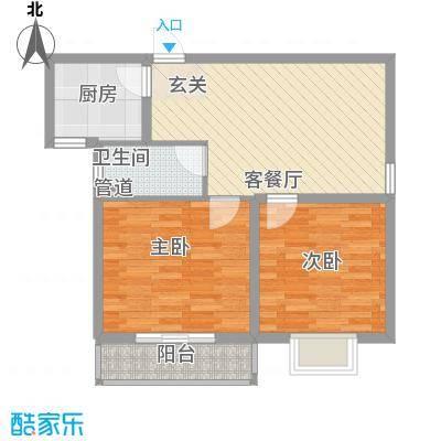 兴都公寓85.00㎡三期4#楼标准层B户型2室1厅1卫1厨