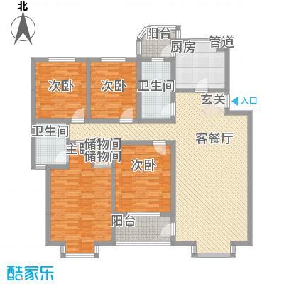 筑业花园16.00㎡户型4室