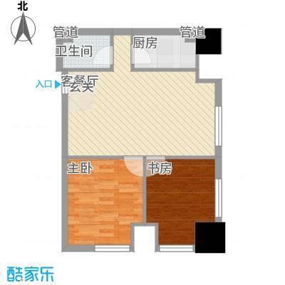 银座中心・领寓8.00㎡完美户型2室1厅1卫