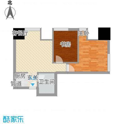 银座中心・领寓68.00㎡品味户型2室1厅1卫1厨