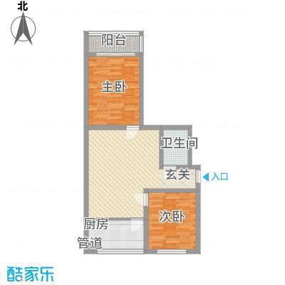 天业翠苑85.80㎡户型2室