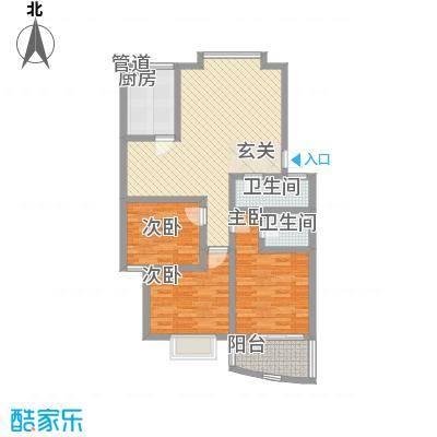 天业翠苑116.00㎡户型3室
