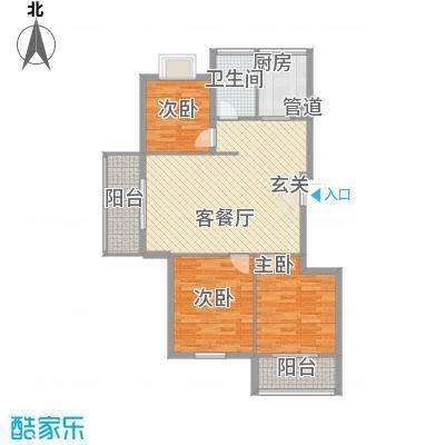 柳岸晨韵116.00㎡C户型3室