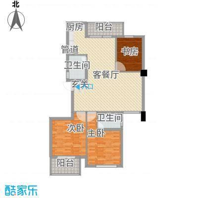 柳岸晨韵131.00㎡I户型3室