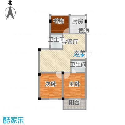 柳岸晨韵113.00㎡B户型3室