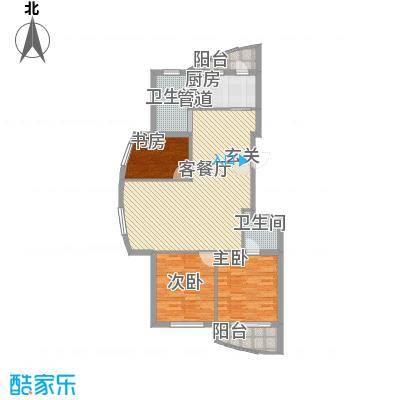 柳岸晨韵126.00㎡F户型3室