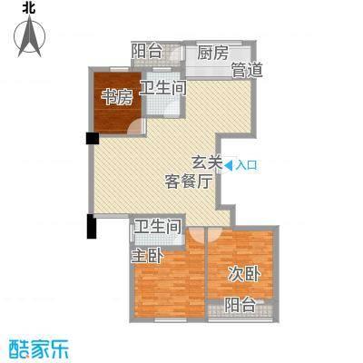 柳岸晨韵133.00㎡J户型3室