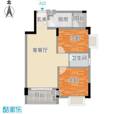 青青世界74.00㎡户型2室2厅