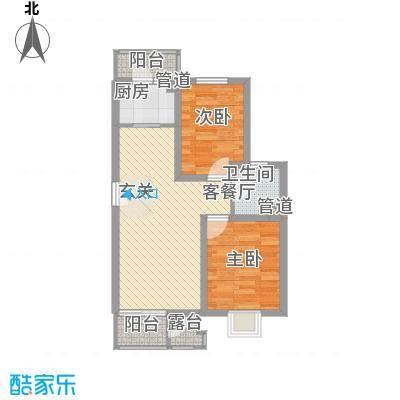 东旭花园公寓77.00㎡户型2室