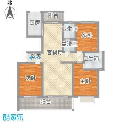 万泰秀水湾143.15㎡三期高层C户型3室2厅2卫1厨