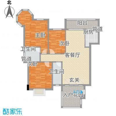 日升昌阳光御园145.52㎡A02户型3室2厅