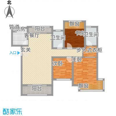 龙凤花园3221户型3室2厅1卫1厨