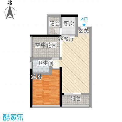 金碧花苑户型1室