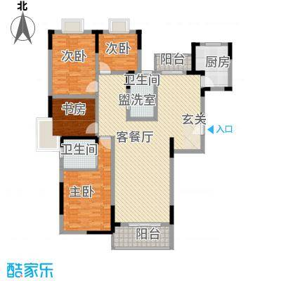 丽江花园128.00㎡户型