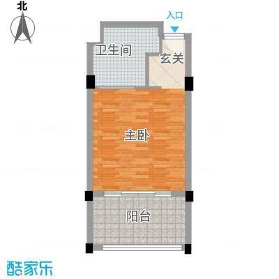 灵山元一天邑57.00㎡公寓酒店户型1室1卫