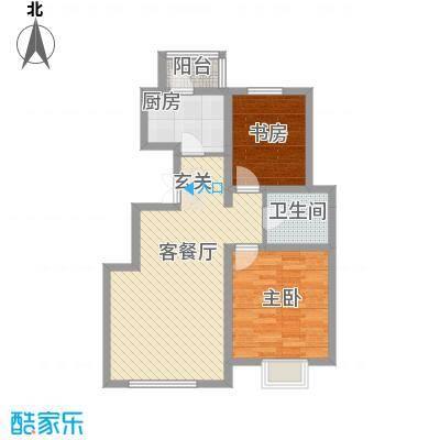 龙池新天地10户型2室2厅1卫1厨