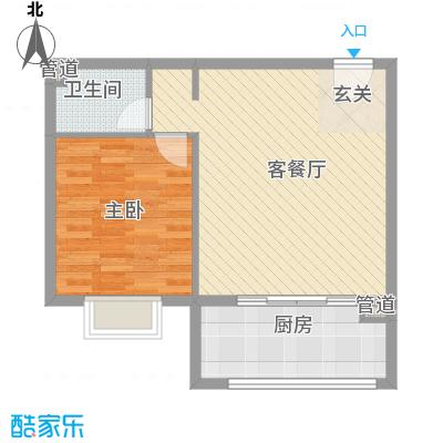渤海明珠73.00㎡户型1室2厅1卫