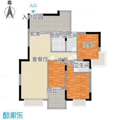 邮电新村户型3室