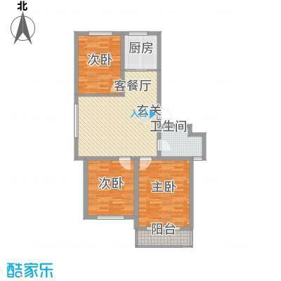 华兴园户型3室2厅1卫1厨