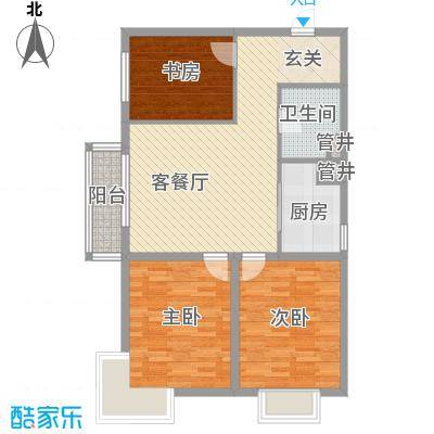 卓达书香园三期1号楼D户型