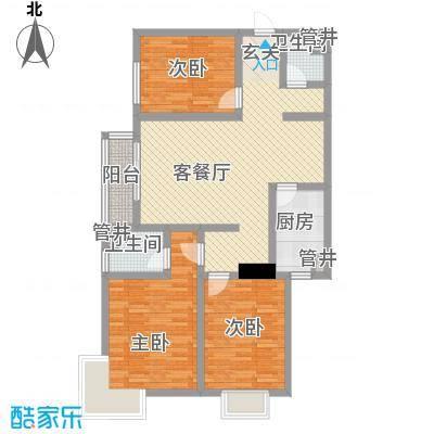 卓达书香园三期3-5号楼D户型