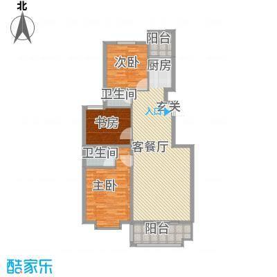 金邸山庄135.43㎡2号楼G户型3室2厅2卫1厨
