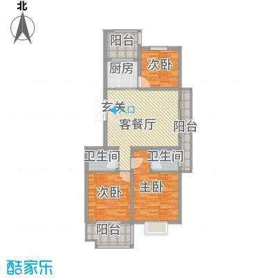 金邸山庄126.41㎡M-拷贝户型3室2厅2卫1厨