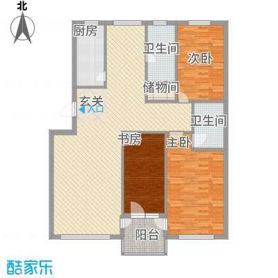 金润花园137.00㎡户型2室