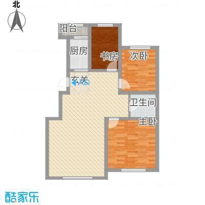 盛阳华苑17.75㎡C2户型3室2厅1卫1厨