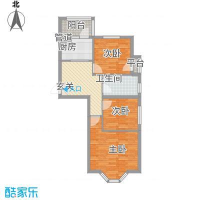 华泰世纪新城7.43㎡二期F户型2室1厅1卫
