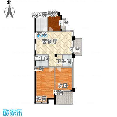 金岸花苑12.00㎡户型3室