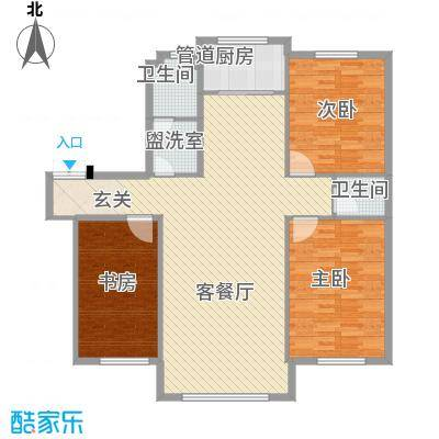 颐和香榭134.00㎡222户型