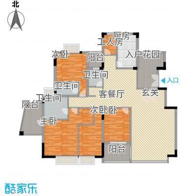 丽江花园户型4室