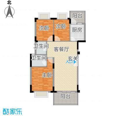 大信新家园户型3室2厅2卫1厨