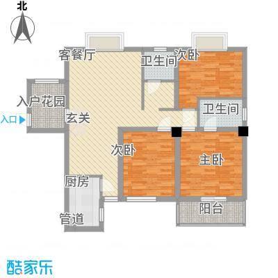 山水世家户型2室