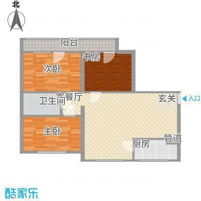 兴光A912.00㎡一期6号楼四层C户型2室2厅1卫1厨