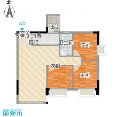 龙光海悦城邦户型3室