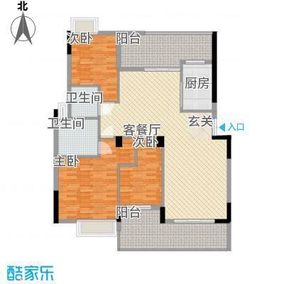 雅庭院14.00㎡户型3室