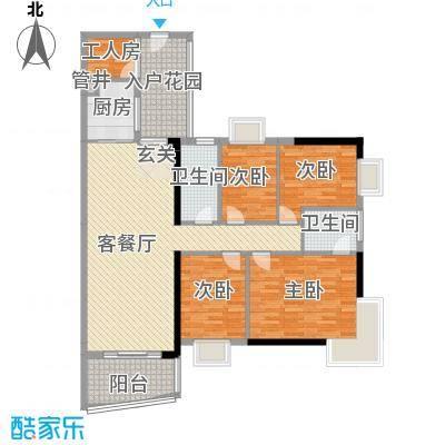润宇豪庭135.82㎡C户型4室2厅2卫