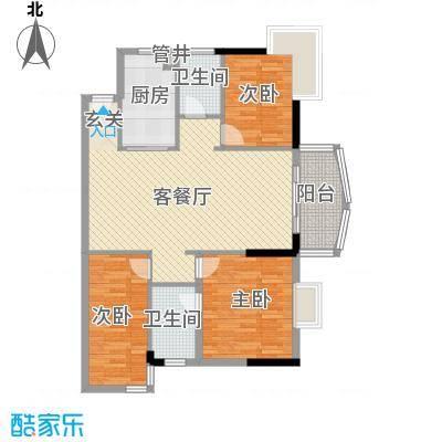 润宇豪庭114.27㎡B2户型3室2厅2卫