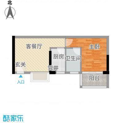 润宇豪庭48.80㎡A3户型1室1厅1卫