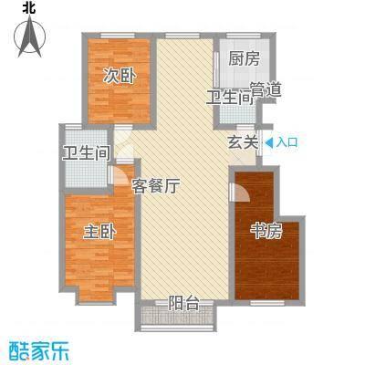 雍翠园18.00㎡户型3室