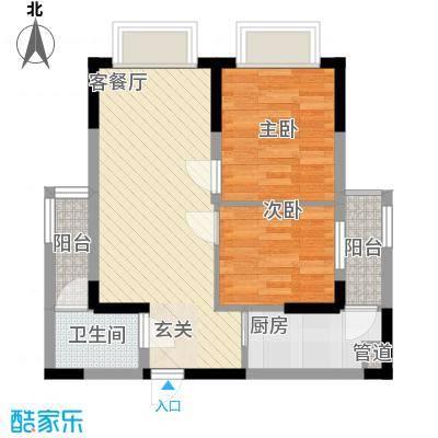 幸福魔方68.73㎡1单元01户型2室2厅