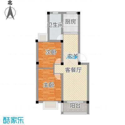 东方丽景75.00㎡A1户型2室2厅1卫