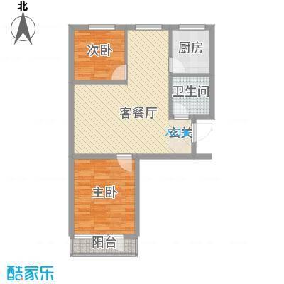 金海湾花园3户型2室2厅1卫1厨