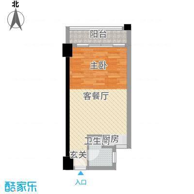 恒和主场46.52㎡B户型1室1厅1卫