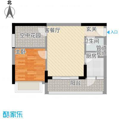 天烽新地5.70㎡B1户型1室1厅